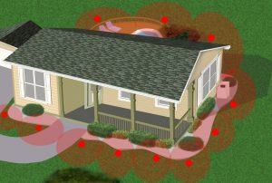 House termite trap perimeter plan 2 1024x691 300x202 - Controle de Cupins em Jundiaí